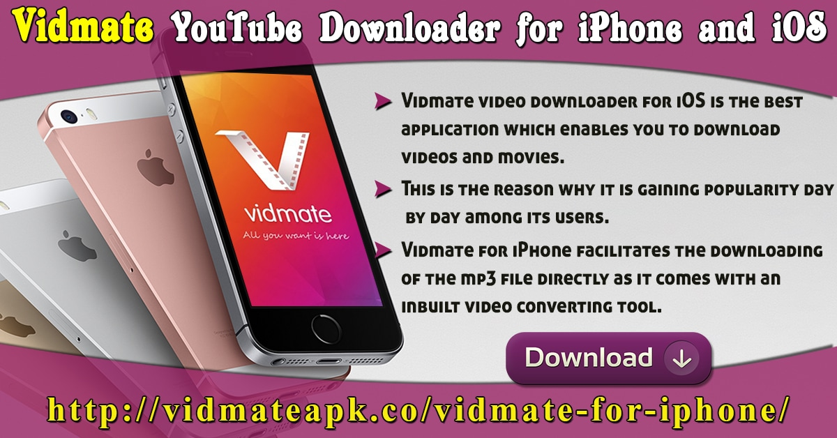 Vidmate YouTube Downloader For IPhone And IOS - Vidmate App